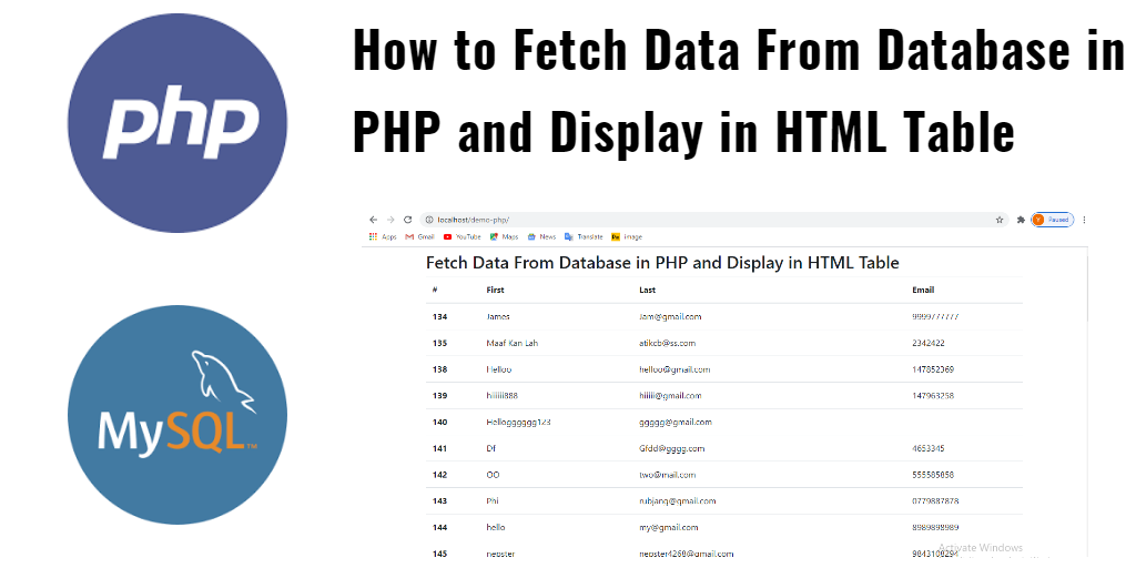 How to Fetch Data From Database in PHP and Display in HTML Table