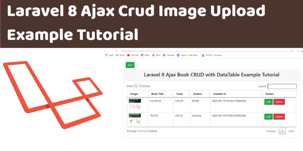 Laravel 8 Ajax Crud Image Upload Example Tutorial