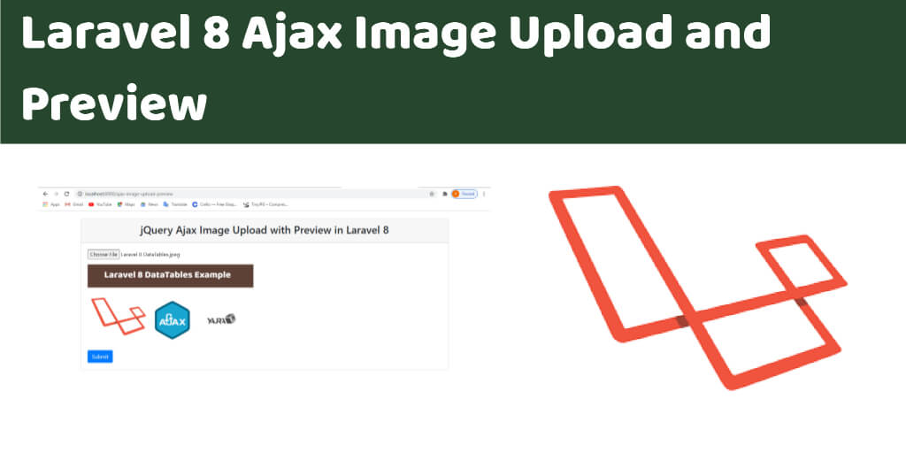 Laravel 8 Ajax Image Upload and Preview