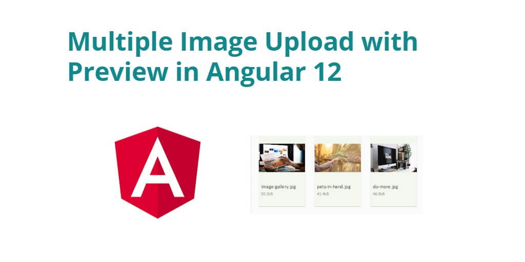 Multiple Image Upload with Preview in Angular 12