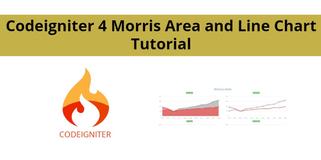 Codeigniter 4 Morris Area and Line Chart Tutorial