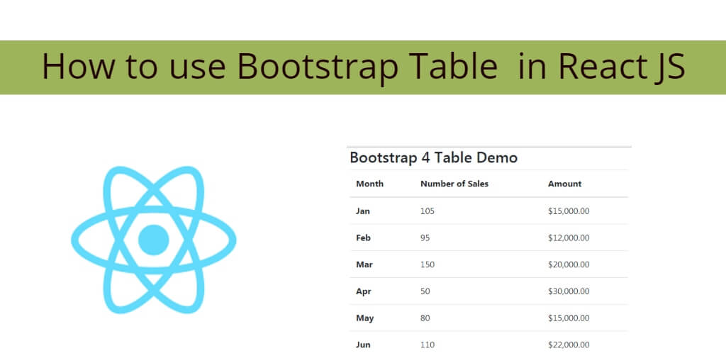 How to use Bootstrap Table in React JS