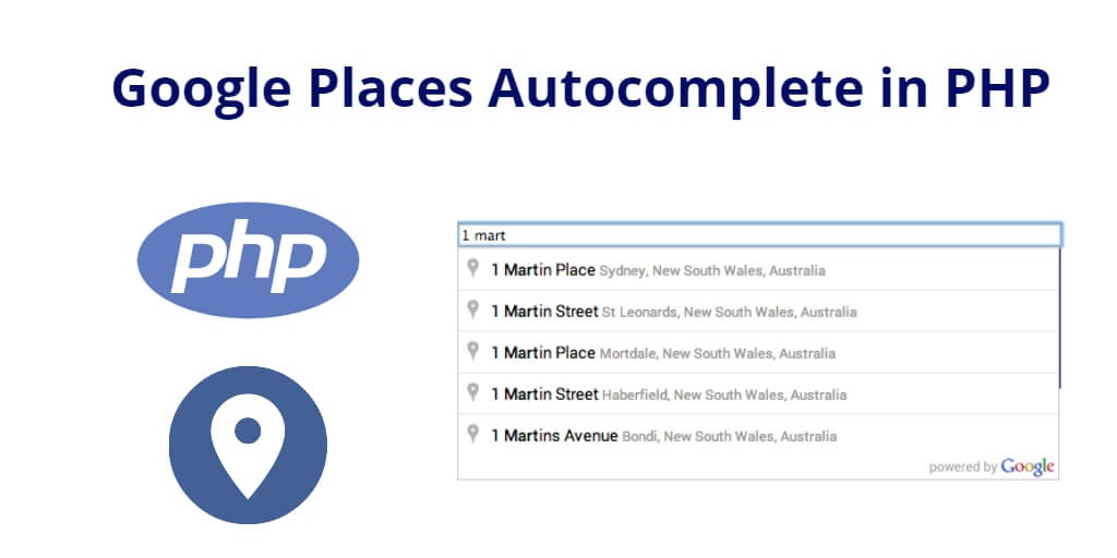 Google Places Autocomplete in PHP