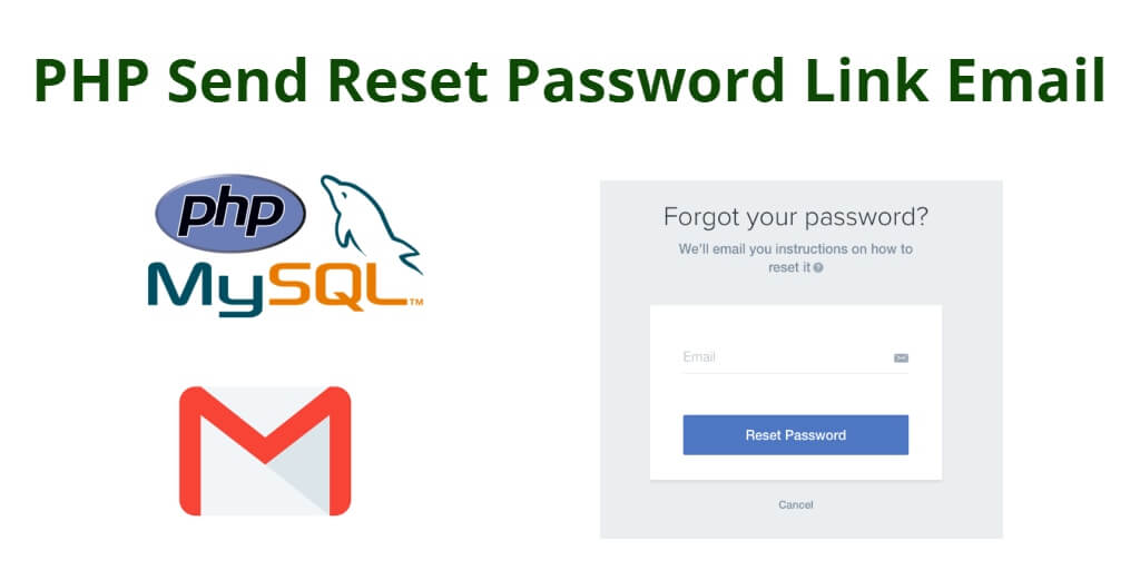PHP Send Reset Password Link Email